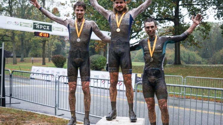 Men's podium. Smith, Kisseberth, Lindine. 2017 HPCX Day 2. photo: Jesus Rivera