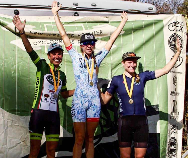2017 HPCX Day 1 Podium: Samantha Runnels, Stacey Barbossa and Lily Williams. photo: Lou Horvath