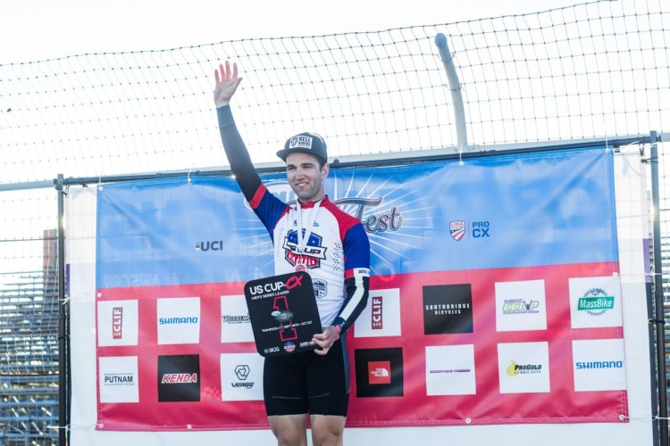 Tobin Ortenblad holds the US Cup-CX series lead after the first weekend. 2017 KMC Cross Fest Day 2. © Jake Orness