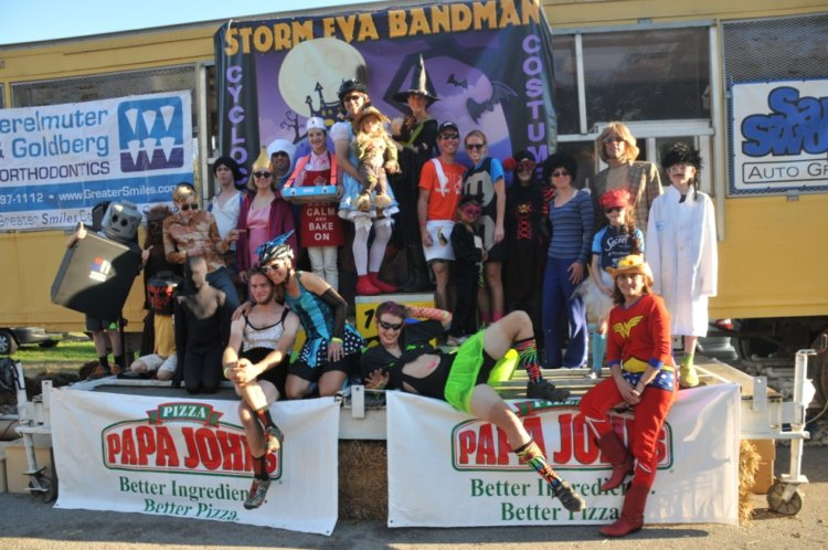 The costume contest is always a hit at Papa John's Storm Eva Bandman. photo: Robert Bobrow
