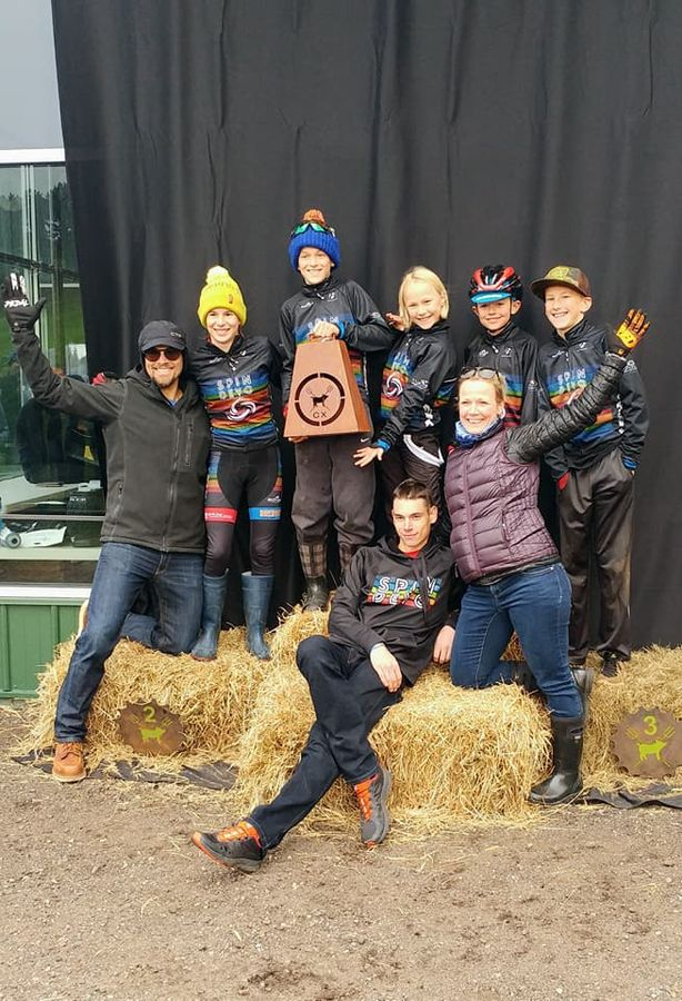 Iowa's Spin Devo won the team competition. Megan Barr took home wins both days at GACX. 2017 Green Acres CX. © Melvin Church