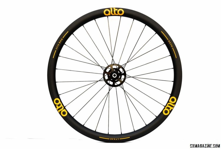 Alto's $2,050 CTX40 carbon tubular wheelset with high-low flanges. photo: courtesy