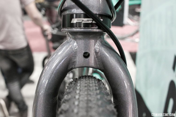 2018 Bianchi disc brake Orso is the company's affordable do-it-all bike, and replaces the Volpe Disc. Interbike 2017. © Cyclocross Magazine