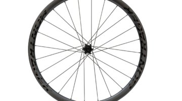 The $1,200, 1,616 gram Bontrager Aeolus 3 Tubeless-Ready Carbon Disc Clincher. © C. Lee / Cyclocross Magazine