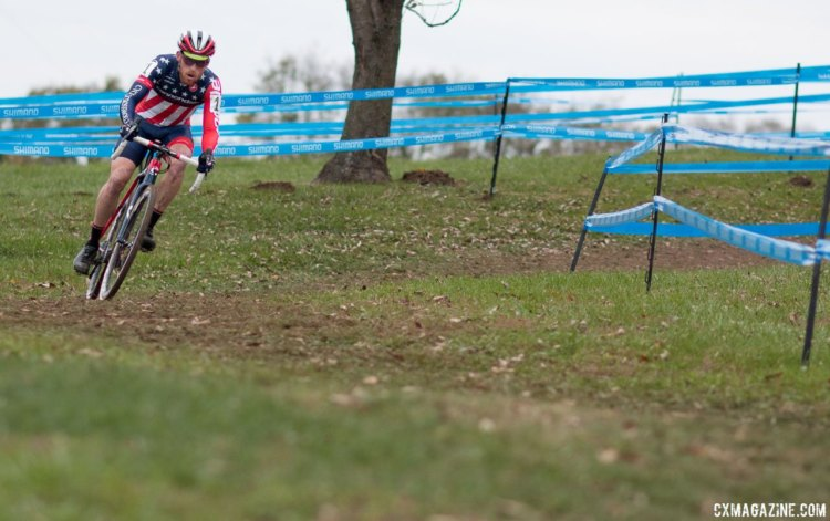 Two venues, two wins for Stephen Hyde in Cincinnati after he won at Harbin Park on Sunday. Elite Men, 2017 Cincinnati Cyclocross, Day 2, Harbin Park. © Cyclocross Magazine