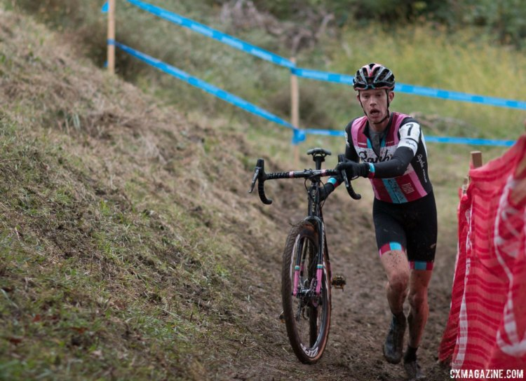 Petrov impressed with a second place, top U23. 2017 Cincinnati Cyclocross, Elite Men, Day 1. © Cyclocross Magazine