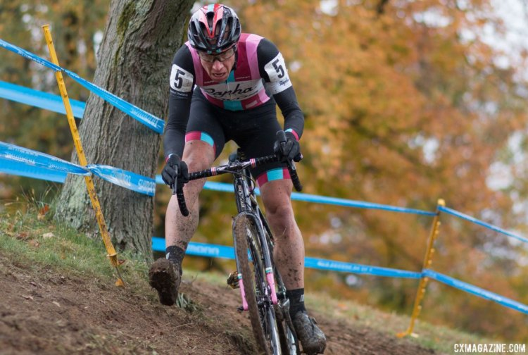 Jeremy Powers came back strong after a slow start to finish third. 2017 Cincinnati Cyclocross, Day 1. © Cyclocross Magazine