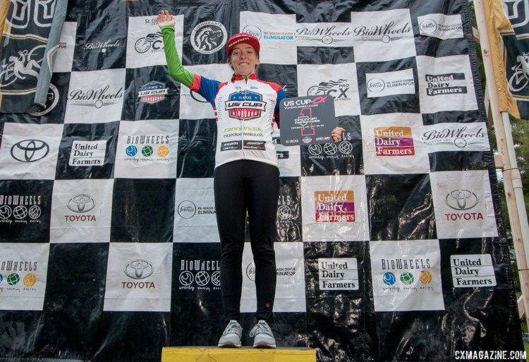 Kaitie Keough cemented her US Cup-CX lead over the weekend. 2017 Cincinnati Cyclocross, Day 2, Harbin Park. © Cyclocross Magazine