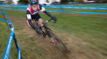 Ellen Noble executed her plan to perfection on Sunday with a late, winning attack. Elite Women, 2017 Cincinnati Cyclocross, Day 2, Harbin Park. © Cyclocross Magazine