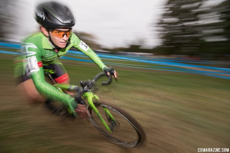 Kaitie Keough took third on Sunday, but retained her US Cup-CX lead. Elite Women, 2017 Cincinnati Cyclocross, Day 2, Harbin Park. © Cyclocross Magazine