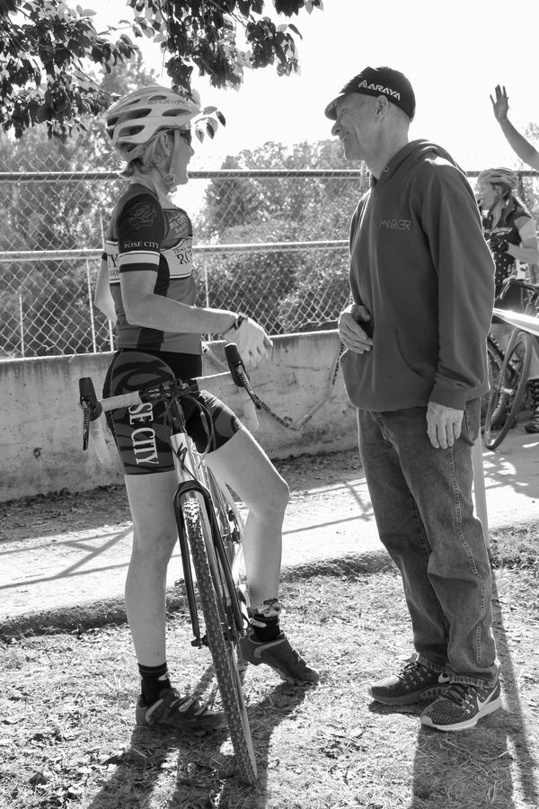 Post race chat. CX Crusade 2017 Day Two. Photo Mike Estes