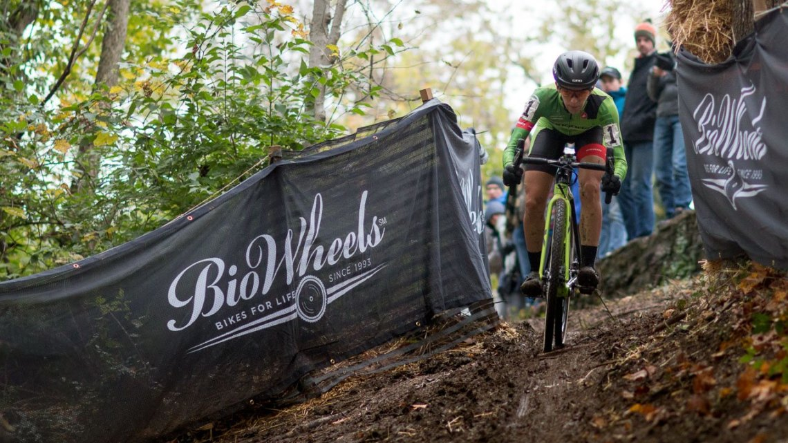 Riding her own race was the key to her win, Keough said. Elite Women, 2017 Cincinnati Cyclocross, Day 1. © Cyclocross Magazine