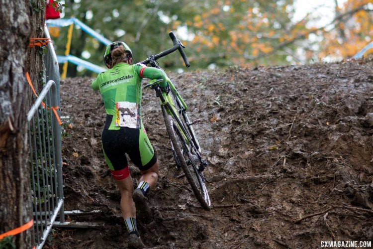 Kaitie Keough took a big step today in her chances of winning the $10k US Cup-CX prize. Elite Women, 2017 Cincinnati Cyclocross, Day 1. © Cyclocross Magazine