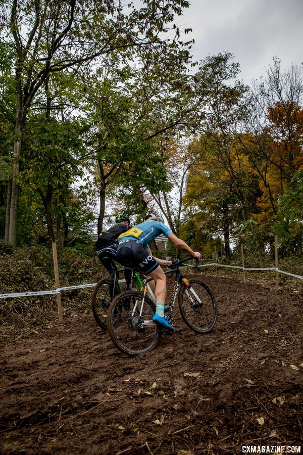 If this climb stays muddy, traction may be hard to find. 2017 Derby City Cup. © D. Perker / Cyclocross Magazine