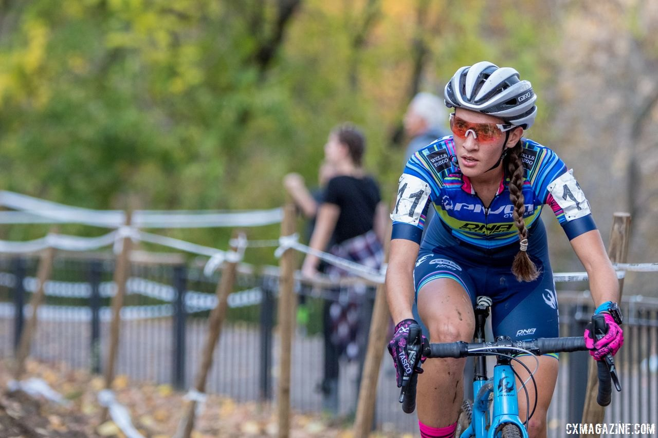 Sofia Gomez-Villafane returns to the Pivot/Maxxis team after a successful 2017 season.. 2017 Pan-American Championships. © D. Perker / Cyclocross Magazine