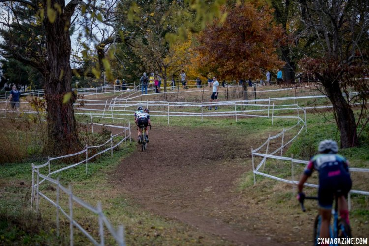 The climbs were greasy and long all weekend. 2017 Pan-American Championships. © D. Perker / Cyclocross Magazine