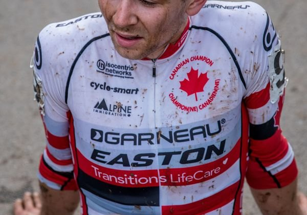 Michael van den Ham took third in his new Canadian National Championship kit. 2017 Pan-American Championships. © D. Perker / Cyclocross Magazine