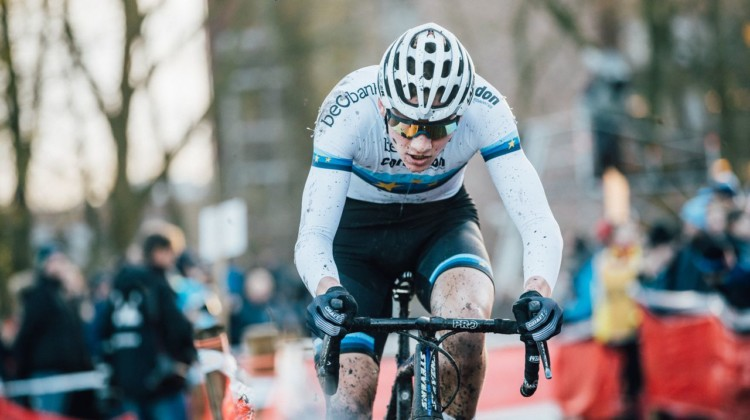 Mathieu van der Poel was focused on bouncing back after his mechanical on Saturday in Zeven. 2017 Flandriencross. © J. Curtes / Cyclocross Magazine