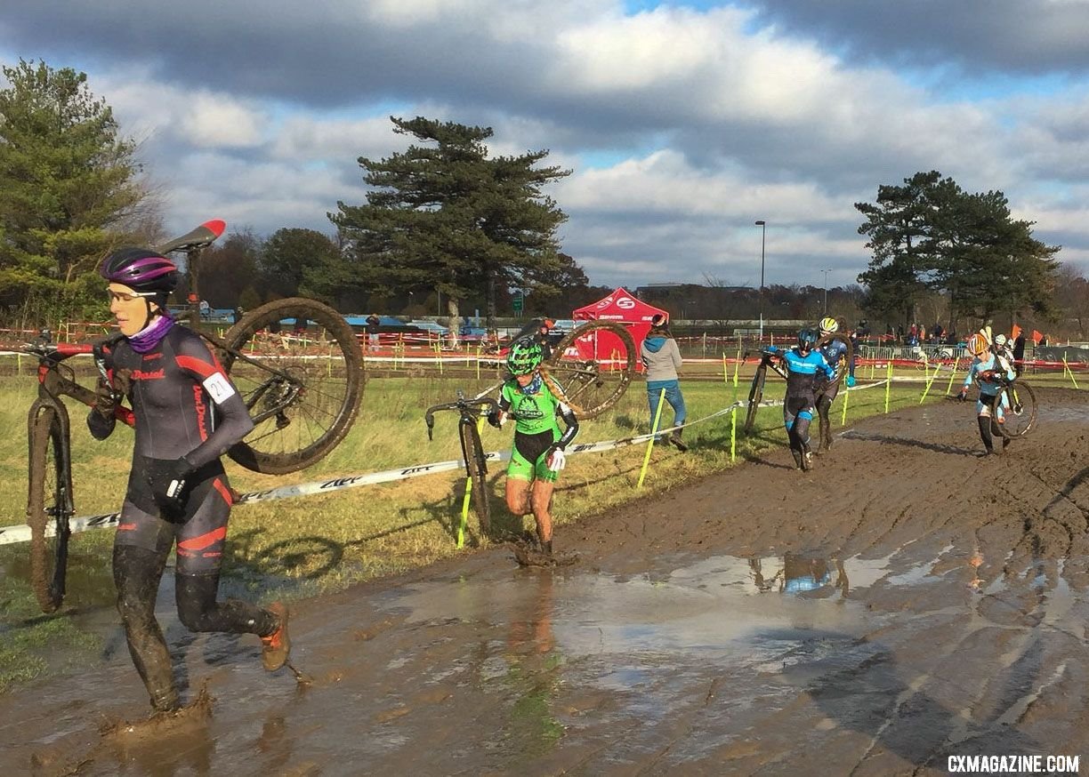Last year's race was ... muddy. 2017 Major Taylor Cross Cup Day 2. © Angelina Palermo