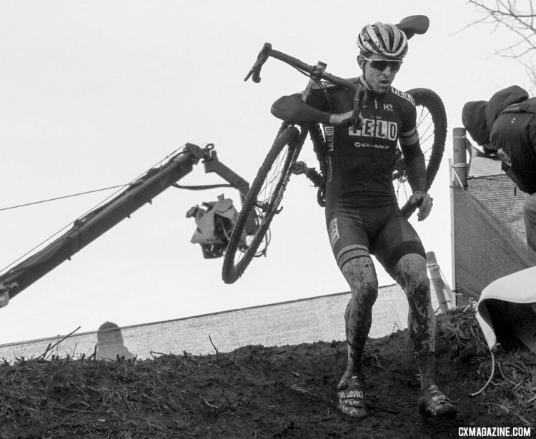 Jeremy Durrin made the start in Zeven. Elite Men, 2017 Zeven UCI Cyclocross World Cup. © B. Hazen / Cyclocross Magazine