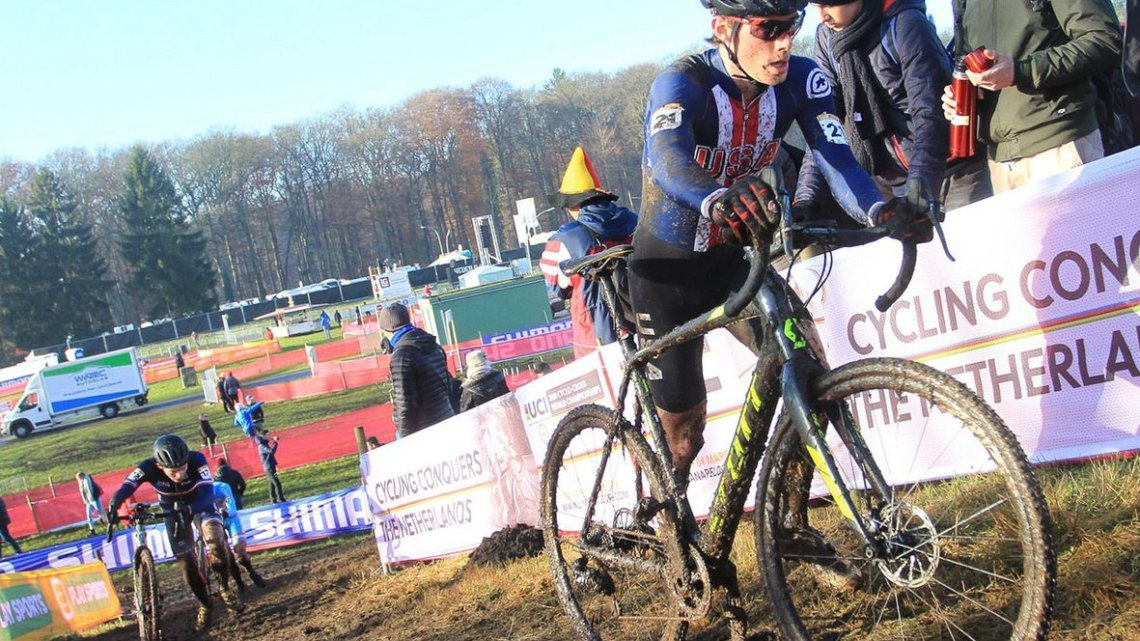Grant Ellwood took 17th at Zeven. U23 Men, 2017 Zeven UCI Cyclocross World Cup. © B. Hazen / Cyclocross Magazine