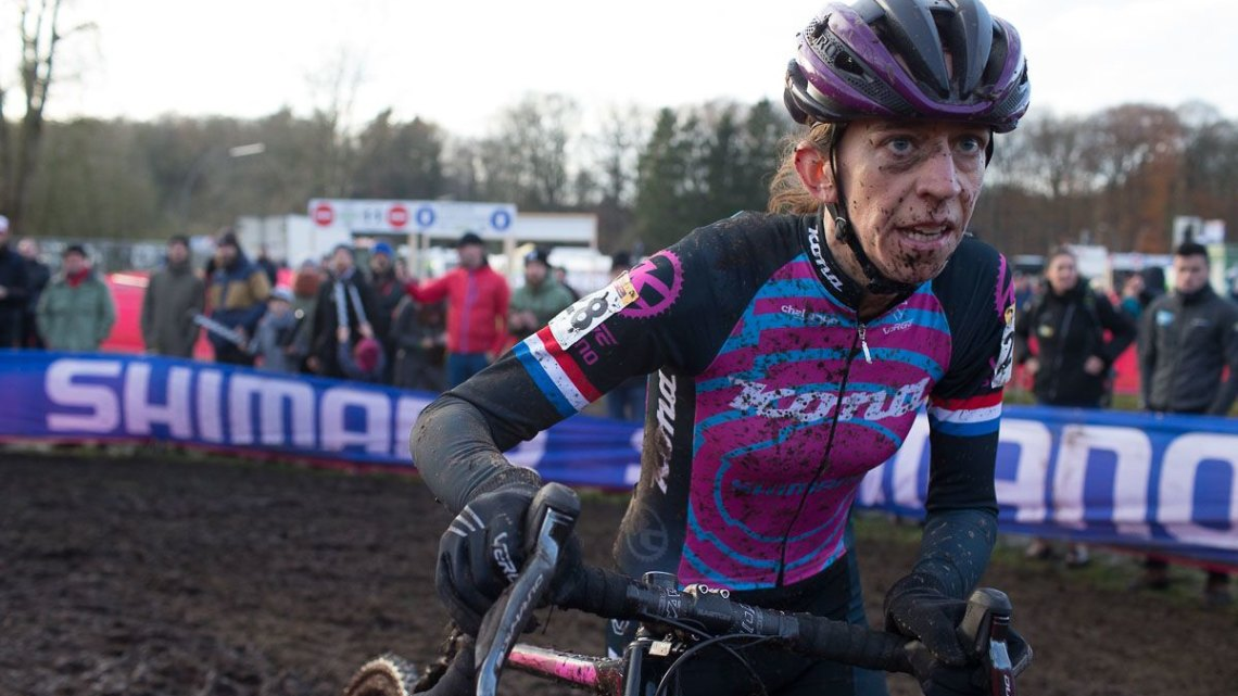 Helen Wyman has been focused on great World Cup results the last two weekends. © B. Hamvas / Cyclocross Magazine