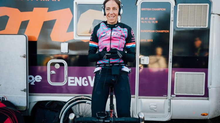 Helen Wyman has been on a roll, and has much to smile about. Elite Women, 2017 Zeven UCI Cyclocross World Cup. © J. Curtes / Cyclocross Magazine