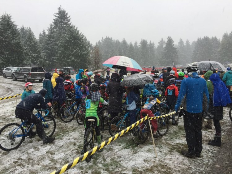 Snow came to Sunday's race in Washington. 2017 MFG Cyclocross #5. photo: courtesy