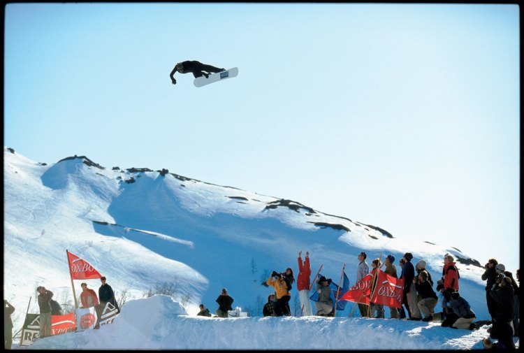 Jeff Curtes' iconic snowboarding photo is of Ingemar Backman getting backside air in Sweden. Right place, right time. © Jeff Curtes