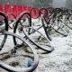 Snow covered everything, including the pits. 2017 MFG Cyclocross #5. photo: courtesy