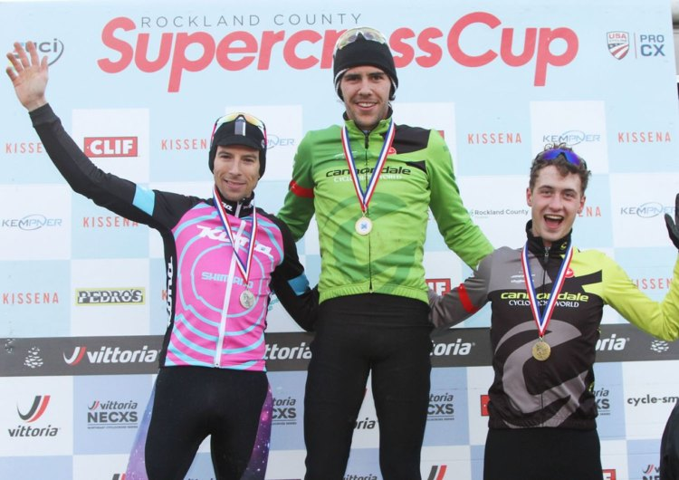 Men's podium: White, Werner and Willsey. 2017 SuperCross Cup Day 2. photo: Marco Quezada.