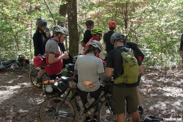 In partnership with New Belgium, the impromptu rest stops throughout the day kept Asheville Ramble Ride participants well-hydrated. © Cyclocross Magazine