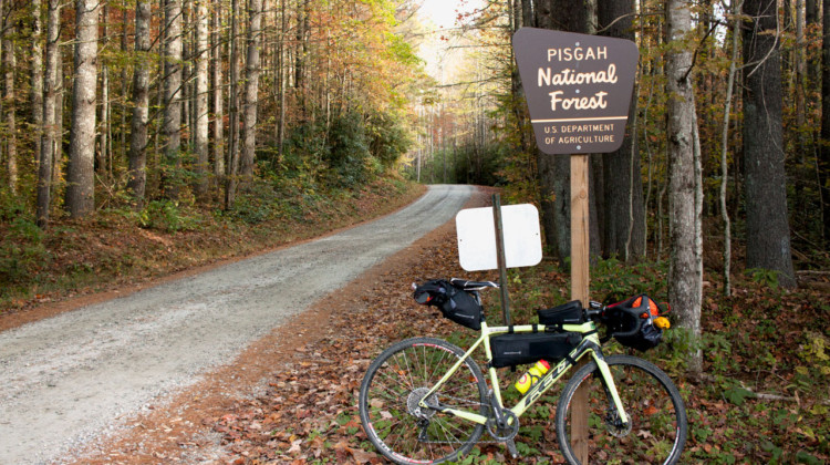 The Asheville Ramble Ride took participants deep into the Pisgah National Forest during peak leaf-peeping season for a three-day adventure. © Cyclocross Magazine