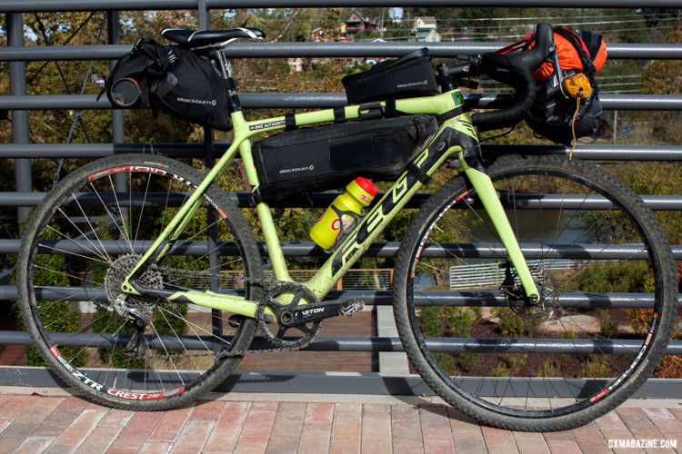 The author's Felt F4x outfitted with Blackburn Designs Outpost bags. The setup was problem-free throughout the three-day Asheville Ramble Ride. © Cyclocross Magazine