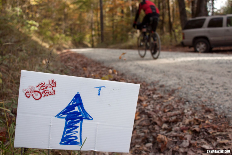 For those who wanted less of a backcountry experience, the Asheville Ramble Ride had plenty of course markers to navigate from. © Cyclocross Magazine