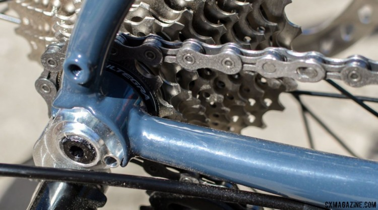 Custom Breezer dropouts for a 12mm thru-axle.mBreezer Inversion gravel / cyclocross bike. © C. Lee / Cyclocross Magazine
