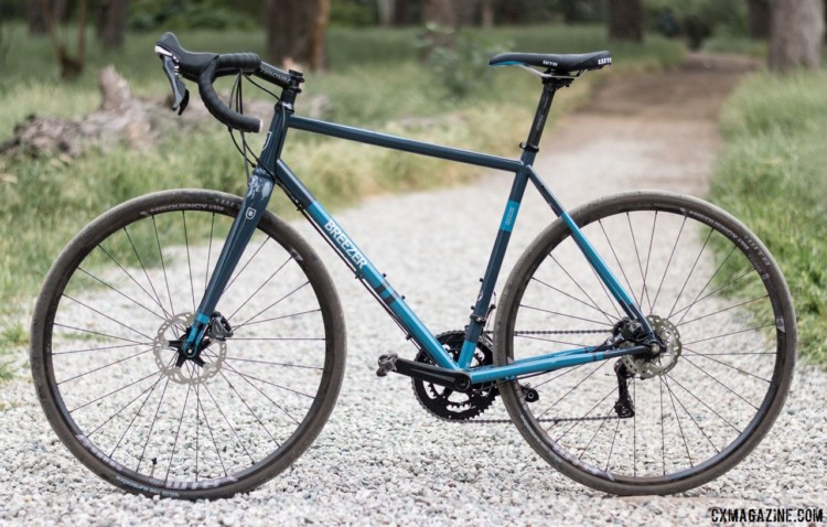 The Inversion has a long, low geometry that makes it responsive on the road. Breezer Inversion gravel / cyclocross bike. © C. Lee / Cyclocross Magazine