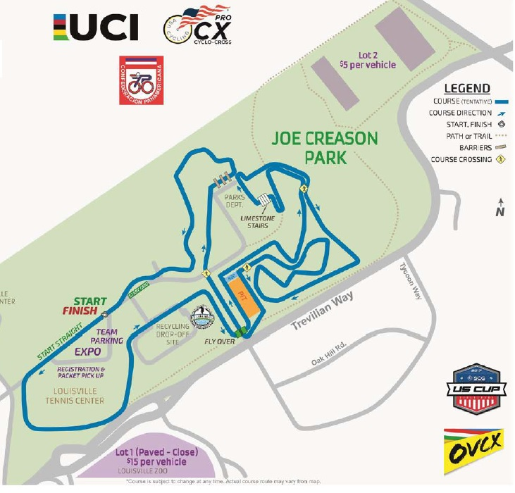 2017 Derby City Cup course map
