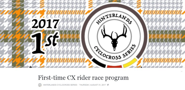 The Hinterlands Series offered a first-time CX rider race program this year.