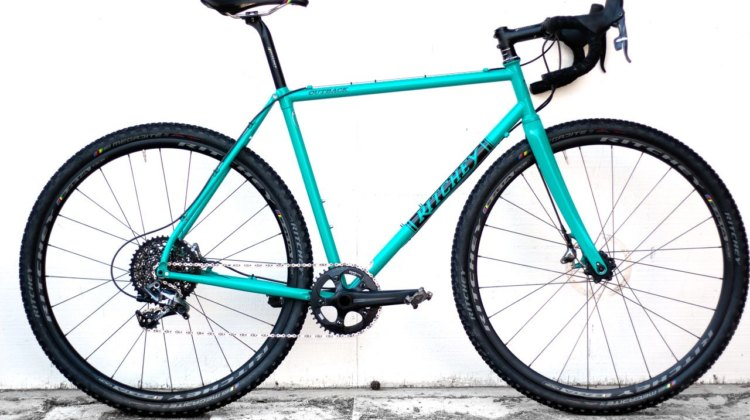 The new Ritchey steel Outback is currently available as a steel frame and carbon fork. Ritchey provided us with a SRAM Force-equipped test build. . © Cyclocross Magazine