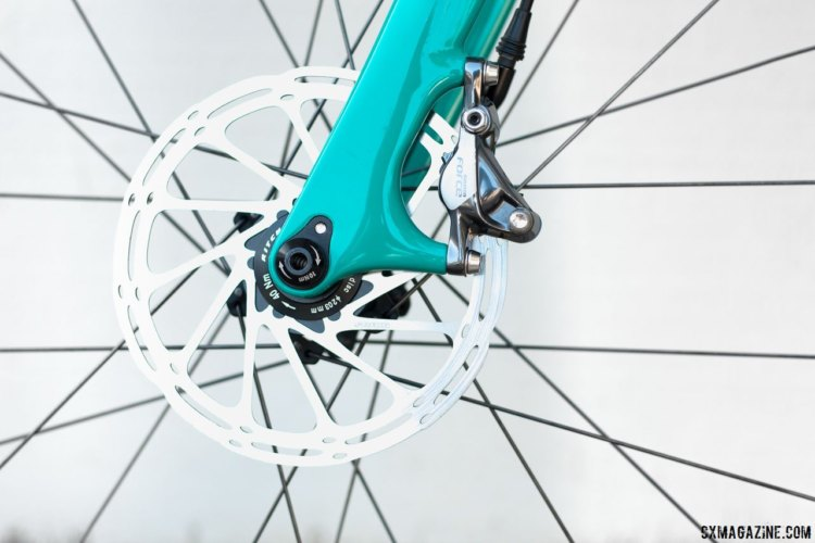 The fork is a 12mm thru-axle with post-mount disc brakes. The new Ritchey steel Outback. © Cyclocross Magazine