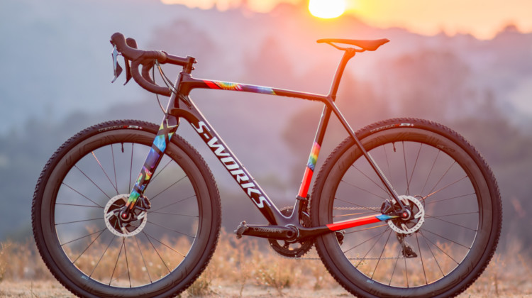 If you're lucky enough to own a 2018 Specialized S-Works CruX cyclocross bike, you'll probably want to keep riding past sunset. © Cyclocross Magazine