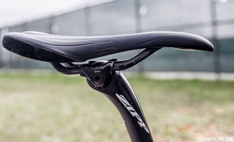 Carbon rail saddles are not terribly common in cyclocross, but Ortenblad's WTB SL8 has been up to the task so far. Tobin Ortenblad's Santa Cruz Stigmata cyclocross bike. © D. Perker / Cyclocross Magazine