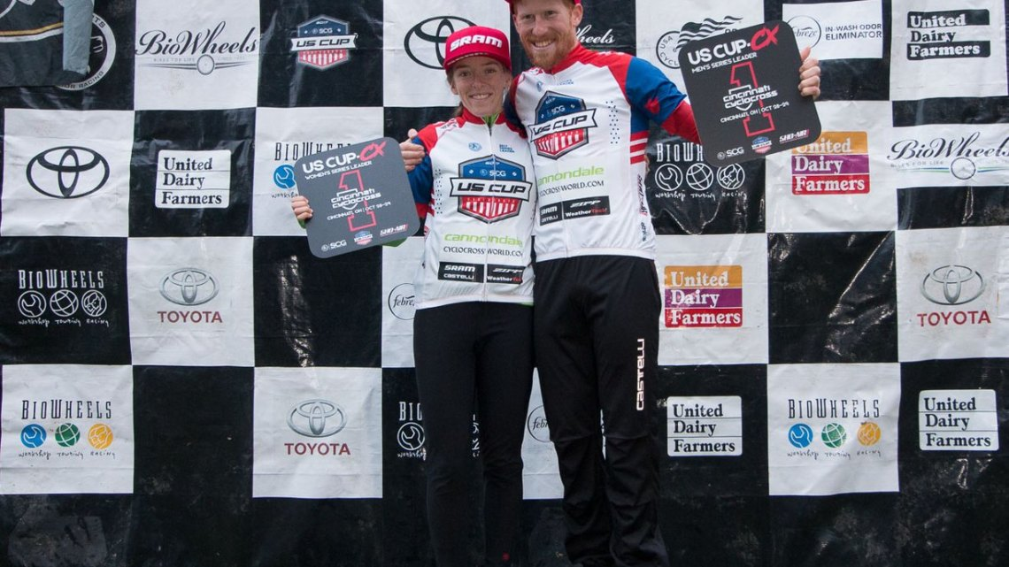 Kaitie Keough and Stephen Hyde lead the US Cup CX series with one race to go. © Cyclocross Magazine