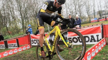 Corne van Kessel won at Hasselt and then won again on Sunday at Leuven. © B. Hazen / Cyclocross Magazine