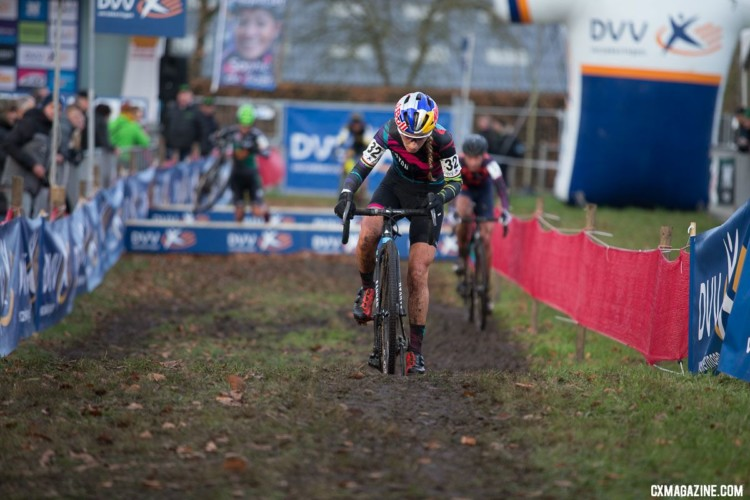 The 2015 World Champ is back in cyclocross and impressed with a fourth place. 2017 Cyclocross DVV Verzekeringen Trofee #4 - Essen. © Cyclephotos / Cyclocross Magazine