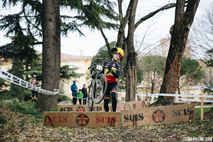 Belgium was represented and rumor is next year's SSCXWC may be in the motherland of cyclocross. 2017 SSCXWCITA, Verona, Italy. © F. Bartoli Avveduti / Cyclocross Magazine