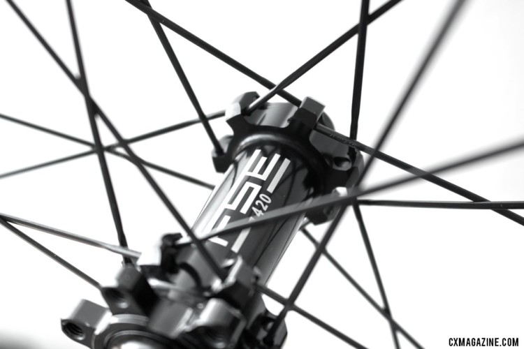 FSE uses a straight pull hub compatible with 6-bolt rotors. FSE (Filament Spin Evolution) EVO 35CD carbon tubeless clincher disc brake wheels. © Cyclocross Magazine