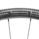 FSE (Filament Spin Evolution) EVO 35CD carbon tubeless clincher disc brake wheels, with its carbon weave finish, look different and according to the company, are built differently than most rims for better heat resistance, stiffness and weight savings. © Cyclocross Magazine