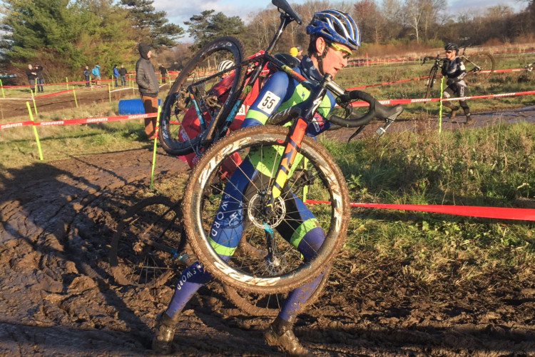 Drew Dillman is one of the Marian alumni who has had cyclocross success. 2017 Major Taylor Cup. © Angelina Palermo